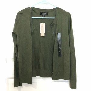 NWT banana republic olive cardigan